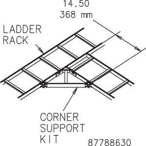 Hoffman LCSKG Corner Support Kit Gray