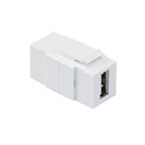 40835W WH Q/PORT USB CONN AA FEEDTHROUGH
