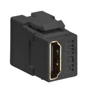 Leviton 40834-E HDMI Connector, Feedthrough, QuickPort, Black