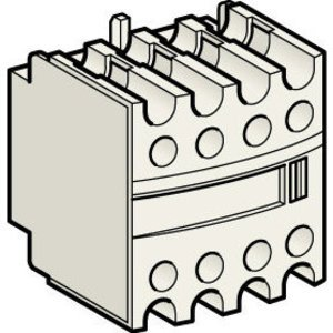 Square D LADN13 Contactor, Auxiliary Contacts, 4P, 1NO/3NC, Front 00-2, Side, 3-7