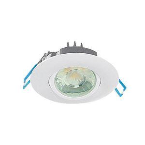 """Elite Lighting RL373-600L-DIMTR-120-27K-90-MD-WH LED Recessed Gimbal, 3"""", 8 Watt, 600 Lumen, 2700K,120V"""