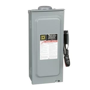 Square D HU361RB Disconnect Switch, Non-Fusible, NEMA 3R, 30A, 600VAC, Heavy Duty