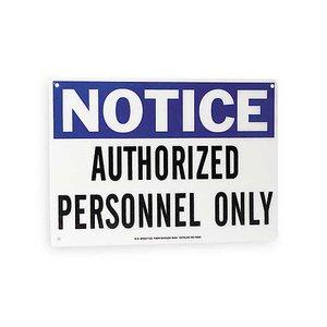 Brady 70602 Admittance Sign