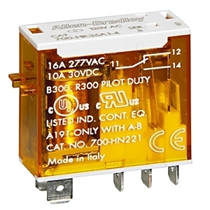 Allen-Bradley 700-HK32A24-3-4 Relay, Ice Cube, Slim Line, 8-Blade, 2PDT, 8A, 24VAC, with Options