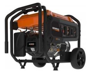Generac 7686 Generator, Portable, 8kW, 120/240VAC, 66.6/33.3A, Electric Start