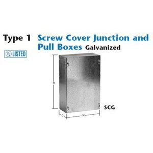 Unity 886SCG N1 SCREW COVER PULL BOX, Limited Quantities Available