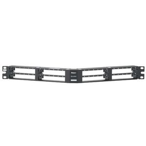 Panduit QAPP48HDVNSBL QN Patch Panel, Vertical Printed Ports,