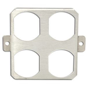 Wiremold M-2DR Device Plate For Multi-Plex Fittings, Dual Duplex, Metallic