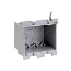 "Pass & Seymour S2-32-W Switch/Outlet Box, 2-Gang, Depth: 4.075"", Non-Metallic"