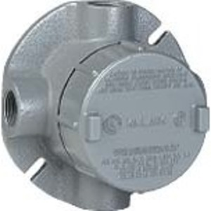 "Hubbell-Killark GECXTF-1 Conduit Outlet Body, Type: GECXT, (4) 1/2"" Hubs, Explosionproof"