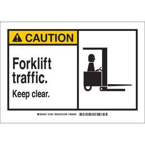 21801 B401 7X10 ANSI BLK,YEL/WHT FORKLIF