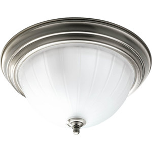 Progress Lighting P3817-09 Close to Ceiling Light, 2-Light, 75W, Brushed Nickel