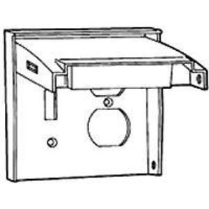 Hubbell-Raco 5042-0 Weatherproof Cover, 2-Gang, Vertical, Type: (1) Toggle & (1) Duplex