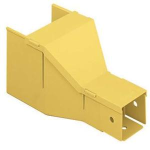 Panduit FRF42YL Reducing Fitting, 4x4 Fiber Duct, Cover Included, ABS, Yellow