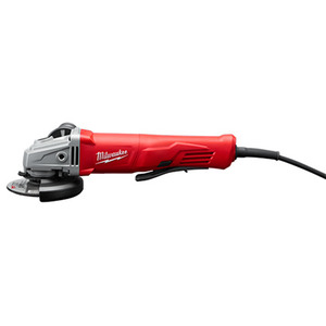"Milwaukee 6142-31 11A Corded 4-1/2"" Small Angle Grinder Paddle No-Lock"
