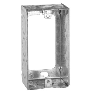 "Hubbell-Raco 653 Handy Box Extension Ring, 1-1/2"" Deep, 1/2"" KOs, Welded, Metallic"