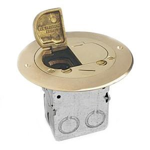 "Lew 612-RSS-2 Duplex Receptacle, 5-3/4"" Diameter, Floor Box Assembly"