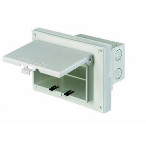 Arlington DBHR141W Weatherproof-In-Use Box, 1-Gang, Recessed, Horizontal, Non-Metallic