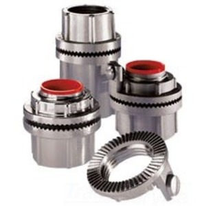 "Cooper Crouse-Hinds STAG1 Grounding Hub, 1/2"", Insulated, Gasketed, Aluminum"