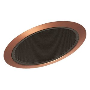 "Juno Lighting 614-BABZ Slope Trim, Standard, 6"", Black Baffle/Classic Aged Bronze Trim"