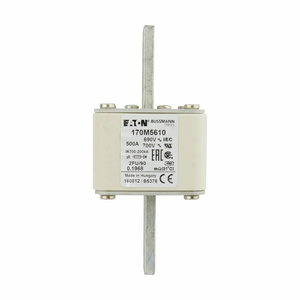 Eaton/Bussmann Series 170M5610 Fuse, 500A Square Body, US Style, Size 2, No Indicator, 690/700V