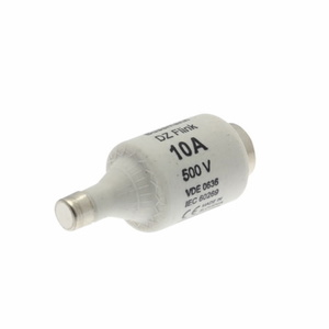 Eaton/Bussmann Series 10D16 10 Amp DIN Style Type D Low Voltage Industrial Fuse, 500V, Red, 8mm