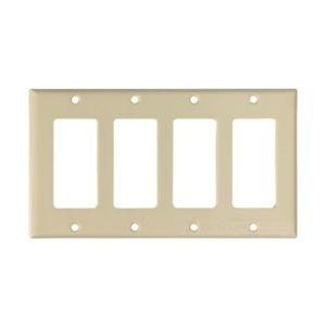 Eaton Wiring Devices 2164V-BOX Wallplate 4G Decorator Thermoset Std IV