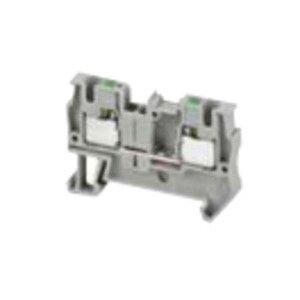 Square D NSYTRP42 Terminal Block, 6.2mm, Feed Through, Gray, 30A, 600VAC, Push In