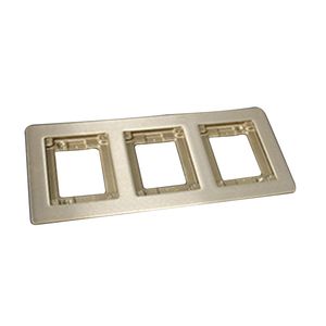 Wiremold 837B Cover Plate Flange, Square, 3-Gang, Brass