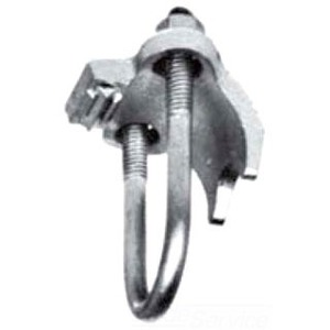 Appleton PC-400RA Conduit Clamp, 4 inch, Right Angle, Malleable Iron, Hot Dipped Galvanized