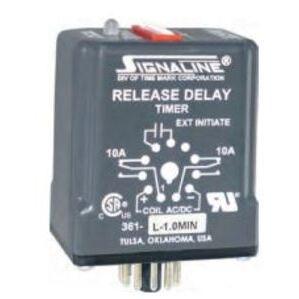 Time Mark 361-L-1SEC Relay, Time Delay, Digital Adjustment, 10-28VAC, 1 Second Delay
