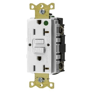 Hubbell-Kellems GFRST83W Hospital Grade Receptacle, 20A, White