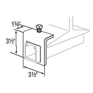 """Superstrut A597-EG Beam Clamp, Channel to Beam, Size: 3-1/2"""" x 3-1/2"""", Steel"""