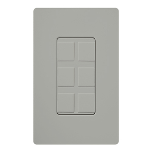 Lutron CA-6PF-GR Six Port Frame, Gray