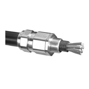 """Appleton 25C2KX0755 Cable Gland, Size: 25, NPT: 3/4"""", Nickel Plated Brass"""