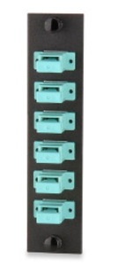 Signamax UFE-B-06SC-G 6-PORT (6 FIBER) SC OM3/OM4 ADAPTER PLATE CERAMIC SLEEVE