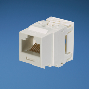Panduit NK688MWH Snap In Connector, NetKey, Cat 6, Component Rated, White