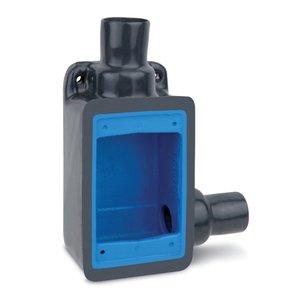 "Ocal FDR2-G FD Device Box, 1-Gang, 3/4"", Iron/PVC Coated"