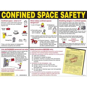CSP PRINZING CONFINED SPACE POSTER  TUBE