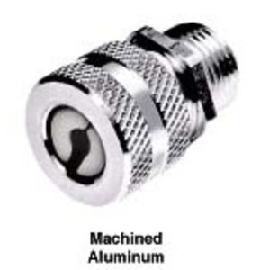 """Hubbell-Kellems SHC1042 Straight Cord Connector, 1"""", Straight, Male, Aluminum"""