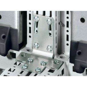Rittal 8800430 Angular Baying Bracket, Includes: Assembly Parts, Steel/Zinc Plated