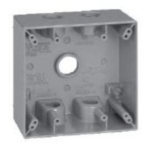 Cooper Crouse-Hinds TP7102 2 G WP BOX 2 DP 1/2 5 HOLE GRAY