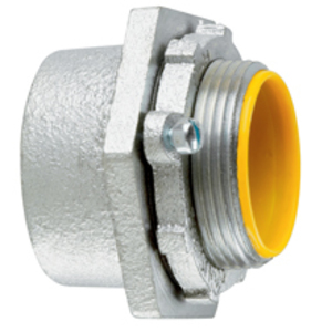 """Cooper Crouse-Hinds MHUB6 Conduit Hub, Size: 2"""", Material/Finish: Malleable Iron/Zinc"""