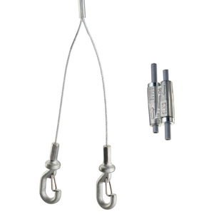 "nVent Caddy SLK2YH500L3 Speed Link With ""Y"" Hook, Length 9.9', Diameter 2mm, Steel"