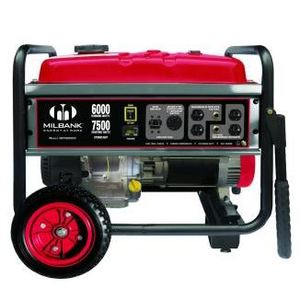 Milbank MPG60002 Generator, Portable, 6kW, 25A, 240VAC, 1PH, 3600RPM, Gas
