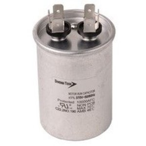 Morris Products T37075R Motor Run Capacitor, Single Capacitance, Round Can, 370VAC, 7.5uf