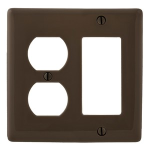 Hubbell-Bryant NP826 WALLPLATE 2-G 1) DUP 1) REC BR