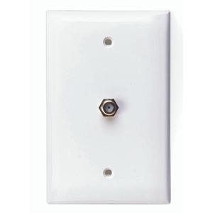 40539-MW WH MIDSIZE 1G PLATE W/F-CONN