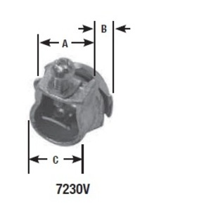 "Appleton 7230V 3/8"" Armored Cable / Flex Connector, for 1/2"" Knockout, Malleable"