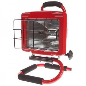 Bayco Products SL-1003 500 Watt, Halogen, Single Fixture Work Light, 120V, Red